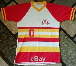 VTG 70s McDonald's Mens Employee Staff Baseball Uniform Shirt Pants Stirrups Set