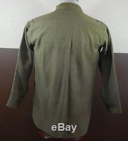 VTG WW2 US Army Uniform Ike Jacket Patches 2 Shirts & Pants USA Made Green