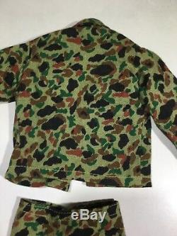 Very Rare Okinawa Tag Pants Shirt Camo Marine Hasbro Vintage GI Joe Uniform 1964