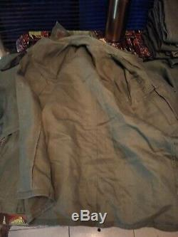 Vietnam Era, 1969 Sateen OG-107 Shirt & Pants, 4 Sets, DSA # 100-72-C bundle