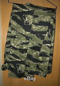 Vietnam Tiger Stripe Products Jacket Shirt And Pants XXL Jacket And XL Pants 87