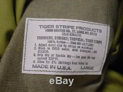 Vietnam Tiger Stripe Products Repro Jacket Shirt And Pants Large