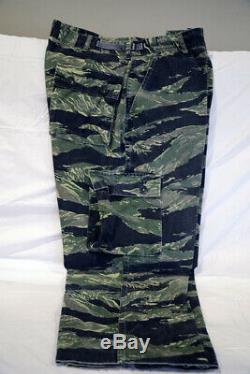 Vietnam Tiger Stripe Shirt and Pants, Special Forces Green Beret, CQB Helmet