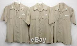 Vietnam US AIR FORCE 1962 Khaki Tan 3-Shirt 4-Pants Captain's Bars Uniform