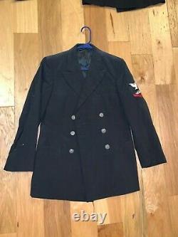 Vietnam US NAVY FIRE CONTROL Uniform lot SHIRT PEA COAT PANTS Patriot FLY CROSS
