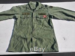 Vietnam War Combat Fatigue Set (Pants+Shirt) 15.5x35 + 32x33 Named