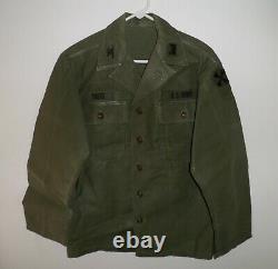 Vietnam War Era US ARMY Uniform Colonel TREFZ OG Sateen Trousers Pants & Shirt