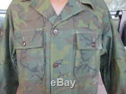 Vietnam War Invisible ERDL Material OG-107 Pattern Hunting Fatigue Shirt, Pants