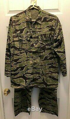 Vietnam War US Army Lightweight Tiger Stripe Camo Shirt & Pants LRRP SF