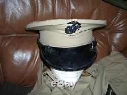 Vietnam War, USMC Uniform Collection, Visor Cap, 2 Pants, Shirt, Duffel, Named