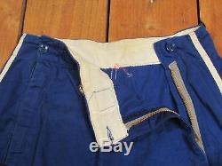 Vintage 1930s Alvin Mfg Co. Zipper-front Baseball Uniform Blue Twill Shirt/Pants