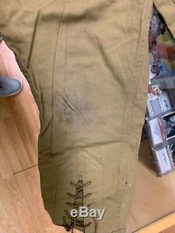 Vintage 1940's BSA Boy Scouts Uniform Long-Sleeve Shirt with Patches Pant Scarf