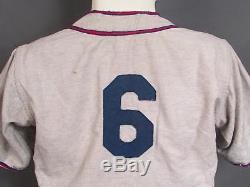 Vintage 1940s Danvers Wool Flannel Baseball Uniform Shirt & Pants Illinois Nice