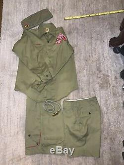 Vintage 1950s Boy Scout Uniform Shirt Pants, Shorts Hat / Belt SOCKS Tulsa