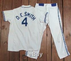 Vintage 1950s Empire NYC Baseball Uniform Zipper Front Shirt with Pants D. E. Smith