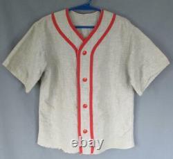 Vintage 1950s'Kid Emery' Wool Flannel Youth Baseball Uniform Shirt Pants Batboy