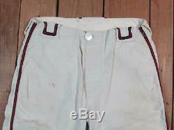 Vintage 1960s Indians Boys Baseball Uniform PA. Little League Team Shirt/Pants 30