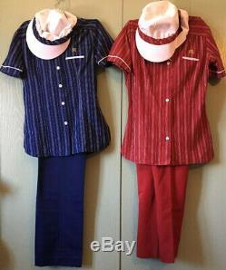 Vintage 1983 McDonald's Employee Uniform Shirt Pant Set Stripe Women's 6 Lot