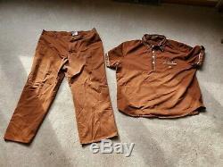 Vintage 1983 McDonald's Mens Crew Uniform XXL Shirt with Pants Size 42 Medium