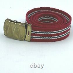 Vintage 1986 McDonalds Uniform Shirt size L Red Pants 30x32 Visor Tie Belt S1