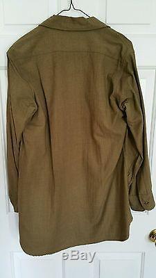 Vintage 40s WW2 US Military UNIFORM Dress Suit Blazer, Shirt and Pants