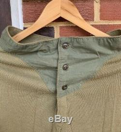 Vintage 40s WWII US Army OD Green Wool Blend Drawers Long Johns Pants/ Shirt Lot