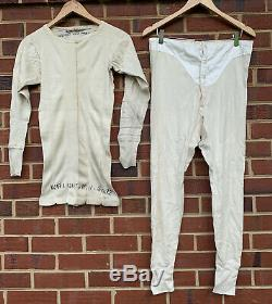 Vintage 40s WWII USN US NAVY Sailors Pullover Undershirt T Shirt/ Pants Size 32