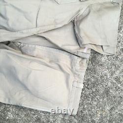 Vintage 50s 60s Korean Vietnam War Khaki Shirt Pants Uniform Chino Set Military