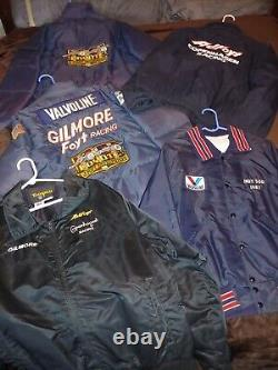 Vintage AJ foyt 1972 race used pit crew shirt pants uniform Gilmore racing 1st