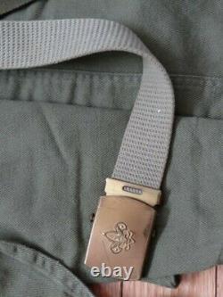 Vintage Boy Scout Complete Uniform Shirt Pants Neckerchiefs Belt Sash 22 Badges