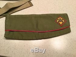 Vintage Boy Scouts Uniform Pants Shirt Sash Belt Hat Used