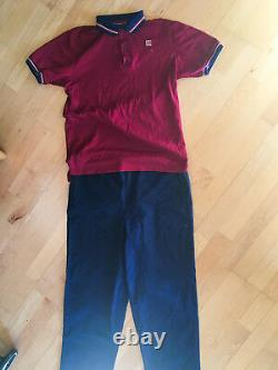 Vintage Burger King uniform. Fast food pants and shirt. Size Medium