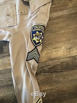 Vintage CHP Uniform Authentic Pants And Shirt With zipper Worn Very Little