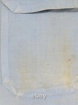 Vintage GULF GAS & OIL UNIFORM SET Striped Pants WORK SHIRT 38Chest 35-30Pants