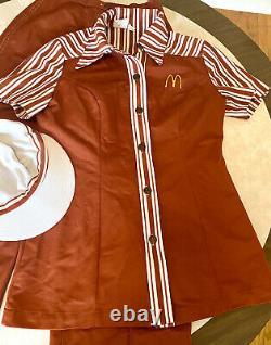 Vintage McDonald's 1976 Uniform Shirt, Pants And Hat Womens Size SM/XS 3PC