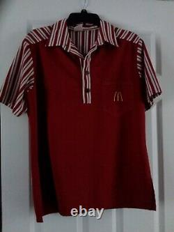 Vintage McDonald's 1976 Uniform Shirt & Pants Men's medium shirt 30 pants