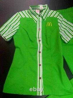 Vintage McDonald's Uniform Shirt & Pants 1976 Women's 12 Lime Green RARE