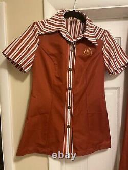 Vintage McDonald's Uniform Shirt & Pants 1976 Womens Small