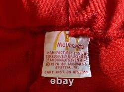 Vintage Mcdonlads 70s Employee Uniform Blue Shirt And Red Pants Medium