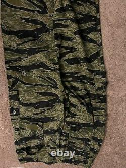 Vintage Moore Militaria Tiger Stripe Camo Pants and Shirt Size US-L
