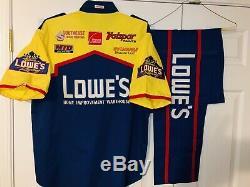 Vintage NASCAR Pit Crew Uniform Shirt Pants Lowe's Brett Bodine Racing Ford #11