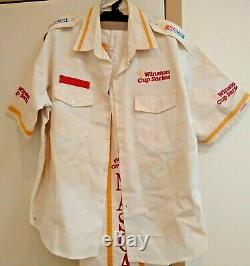Vintage NASCAR Pit Official Uniform Suit Shirt Pants Winston Cup RACE USED XL