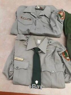 Vintage National Park Service 2 shirts 2 pants and TIE AND TAC R&R Uniforms