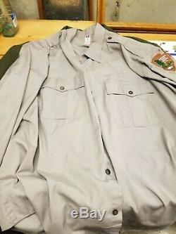 Vintage National Park Service Ranger Uniform Collection Coat/2x Shirts/Pants