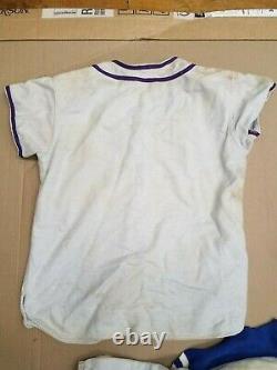 Vintage Rawlings Youth Large Baseball Uniform Shirt Pants Hat Red White Blue