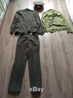 Vintage Soviet Army USSR Uniform Demobilization Jacket shirt pants cap Military