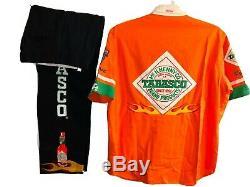 Vintage Todd Bodine Pontiac Racing Shirt & Pants Nascar Tabasco Sauce Uniform