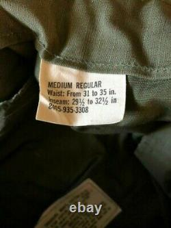 Vintage U. S. Military Uniform RIP Stop Pants and Shirt 70's