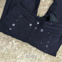 Vintage USN Navy Bell Bottom Wool Pants Shirt Military Army Uniform WWII Vietnam
