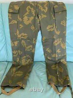Vintage USSR Soviet Russian VDV Paratrooper Uniform Camo Pants, Beret, T-Shirt